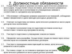 Должностная инструкция режиссера телевидения