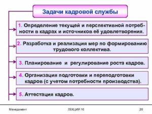 Создание кадровой службы. Шаг 1