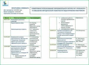 Пример программы семинара по продукту