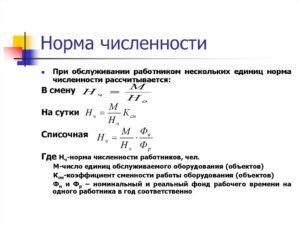 Расчет численности на основе типовых норм