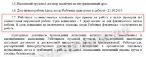 Трудовой договор с испытательным сроком три месяца: образец 2021