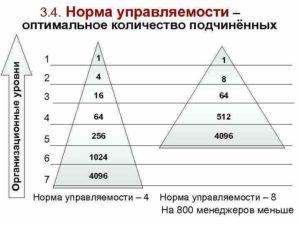 Количество подчиненных