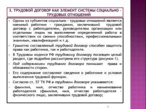 Содержание трудового договора с руководителем организации