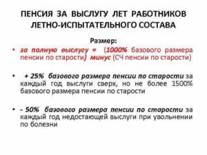 Досрочная пенсия летчикам- испытателям