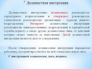 Должностная инструкция руководителя структурного подразделения