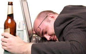 Алкогольное опьянение на работе