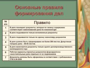 Формирование кадровых документов в дела и организация их текущего хранения