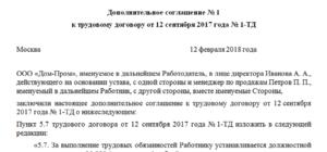 Дополнительное соглашение к трудовому договору об изменении оклада: образец 2021