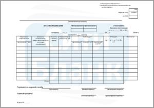 Форма штатного расписания Т-3