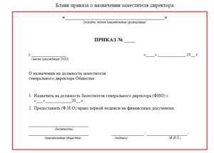 Приказ о назначении на должность: образец 2021