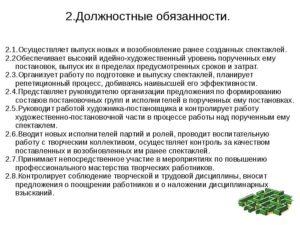 Должностная инструкция режиссера любительского театра (студии)