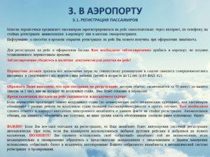 Должностная инструкция представителя авиакомпании