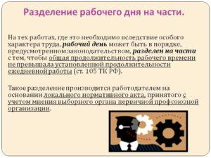 Шаблон Положения о разделении рабочего дня на части