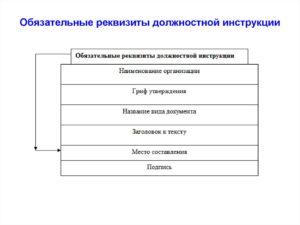 Реквизиты должностной инструкции