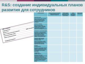 Конструктор индивидуальных планов развития