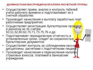 Бухгалтер по расчету заработной платы: обязанности