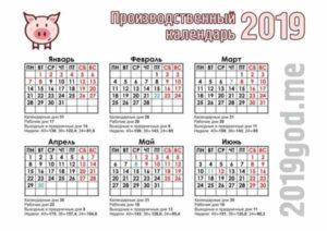 Количество рабочих дней в 2019 году