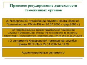 Особенности содержания трудового договора с работниками таможенных органов