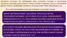 Отказ в заключении трудового договора