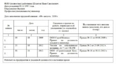 Выписка из трудовой книжки: образец заполнения 2021